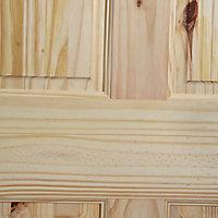 4 panel Knotty pine LH & RH Internal Door, (H)1981mm (W)838mm