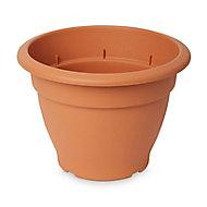 Florus Brown Plastic Bell Plant pot (Dia)30cm