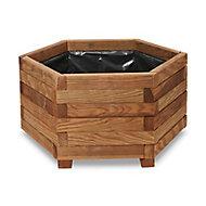 Bopha Wooden Hexagonal Planter 60cm