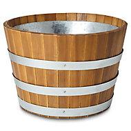 Denia Round Wooden Pot (H)320mm (Dia)540mm