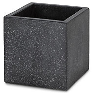 Hoa Dark grey Concrete effect Fibreclay Plant pot (Dia)30cm