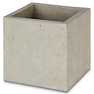 Hoa Light grey Concrete effect Fibreclay Plant pot (Dia)30cm