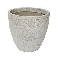 Hoa Round Light grey Pot (H)460mm (Dia)500mm