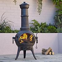 Blooma Etinas Cast iron & steel Chiminea