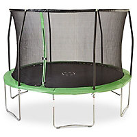 Green 12ft Trampoline & enclosure