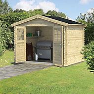 9x7 BELAÏA Apex roof Tongue & groove Wooden Shed