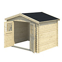 9x7 BELAÏA Apex roof Tongue & groove Wooden Shed