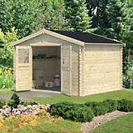 11x9 BELAÏA Apex roof Tongue & groove Wooden Shed