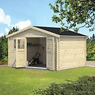 12x10 BELAÏA Apex roof Tongue & groove Wooden Shed
