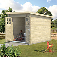 Blooma Belaïa 9x6 Pent Tongue & groove Wooden Shed