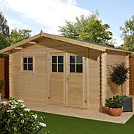 12x10 TAMAN Apex roof Tongue & groove Wooden Shed