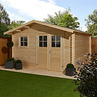 12x12 TAMAN Apex roof Tongue & groove Wooden Shed