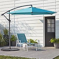 Malta 2.96m Blue Overhanging parasol