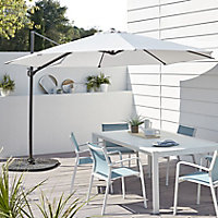 Mallorca 3.46m Light grey Parasol
