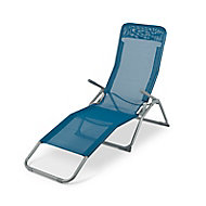 Tilclin Blue Metal Rocker Chair