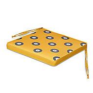 Kinaros Grey & yellow Spot Seat cushion