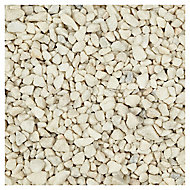 Blooma Spar White Decorative stones, Large 22.5kg Bag