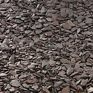 Blooma Plum 10-30mm Slate Decorative chippings, Bulk 790kg Bag