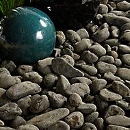 Blooma Black 20-40mm Stone Pebbles, 22.5kg Bag