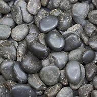 Polished Black Chinese polished pebbles 5kg