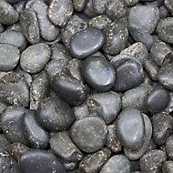 Blooma Black Stone Pebbles, 5kg Bag