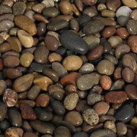 B&Q Multicolour Pebbles, 790kg Bag