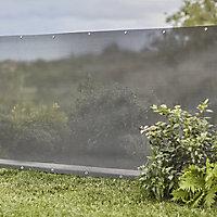 Plastic Dark grey Garden screen (H)1.5m (W)10m