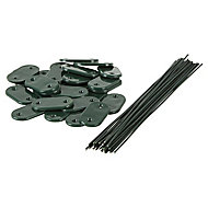 Blooma Plastic, PVC & steel Fixing accessory for garden screen (W)33mm, Pack of 26