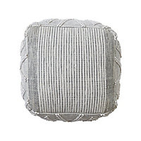 Rural Crochet stitch Grey Pouffe