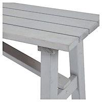 Rural Wooden Grey Bench