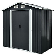 6x5 Apex roof Drop forged Metal Shed