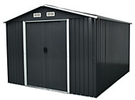 10x9 Apex roof Drop forged Metal Shed