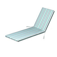 Isla Multicolour Striped Sunlounger cushion