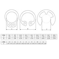 Diall Carbon steel Circlip set, Set of 1000
