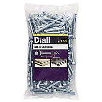 M8 Hex Bolt & nut (L)50mm, Pack of 100
