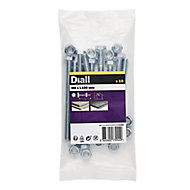 M8 Hex Bolt & nut (L)100mm, Pack of 10