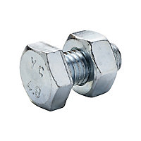M10 Hex Bolt & nut (L)20mm, Pack of 10