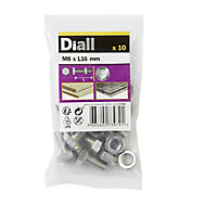 M8 Hex Bolt & nut (L)16mm, Pack of 10