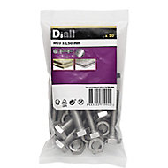 M10 Hex Bolt & nut (L)50mm, Pack of 10