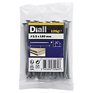 Diall Round wire nail (L)80mm (Dia)3.5mm 100g, Pack