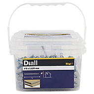 Diall Round wire nail (L)125mm (Dia)5mm 5kg, Pack