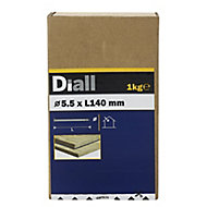 Diall Round wire nail (L)140mm (Dia)5.5mm 1kg, Pack