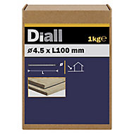 Diall Round wire nail (L)100mm (Dia)4.5mm 1kg, Pack