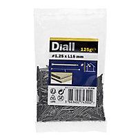 Diall Lost head nail (L)15mm (Dia)1.25mm 125g, Pack