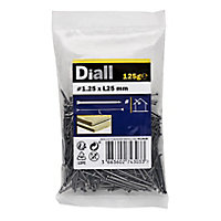 Diall Lost head nail (L)25mm (Dia)1.25mm 100g, Pack