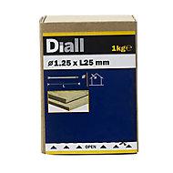 Diall Lost head nail (L)25mm (Dia)1.25mm 1kg, Pack