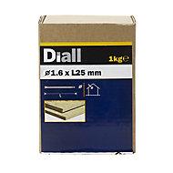 Diall Lost head nail (L)25mm (Dia)1.6mm 1kg, Pack
