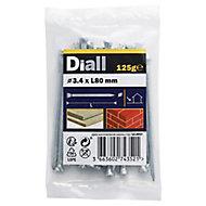 Diall Masonry nail (L)80mm (Dia)3.4mm 120g, Pack