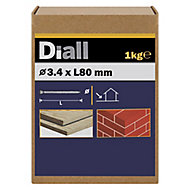 Diall Masonry nail (L)80mm (Dia)3.4mm 1kg, Pack