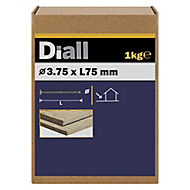 Diall Annular ring nail (L)75mm (Dia)3.75mm 1kg, Pack